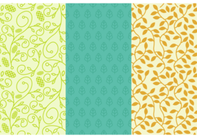 Background Daun Seamless Patterns