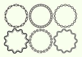 Redondo decorativo marcos de vectores