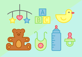 Cute Baby Elements Vector