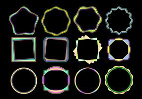 Colorful Funky Frames Free Vector