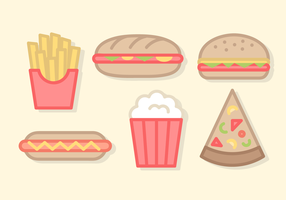 Nette Fast Food Vector