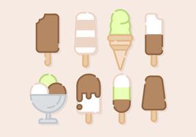 Carino gelato vettoriale