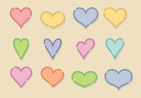 Free Vector corações bonitos