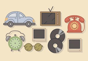 Söt vintage Elements Vector