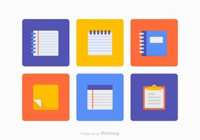 Colorful Block Notes Vector Set
