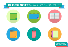 Block Notes Gratuit Vector Pack
