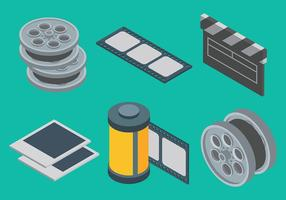 Filme Livre e Photo Icons Vectors