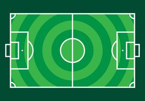 Campo de fútbol del vector