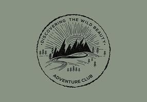Adventure Club Badge vector