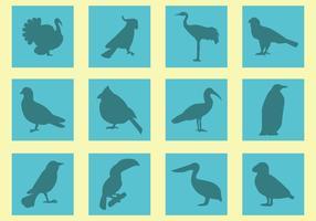 Silhouette di vettori di uccelli