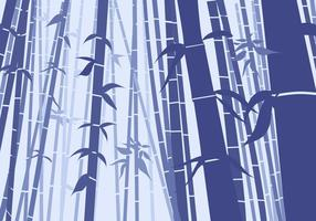 Bambú plana del estilo de la escena