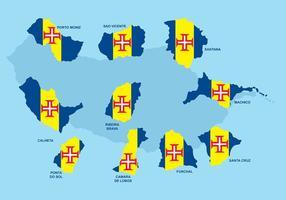 Madeira Maps Vector