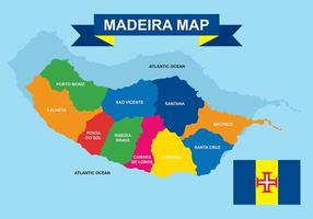 Kartor Madeira vektor