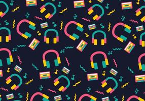 Neon Funky Head Phone Background