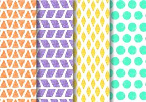 Free Painted Geometric Pattern Vector