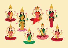 Vector Lakshmi diosa