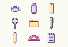 Free Stationery Icons vector