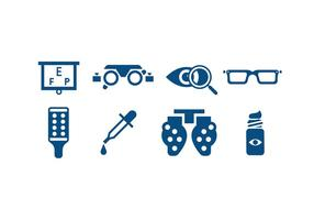 Eye Care Tools Icons vector