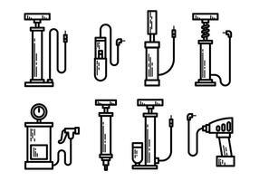 Vettore libero delle icone della pompa di aria