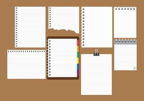 Gratis Block Notes samling vektor