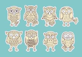 Buho ou Owls Vecteurs Collection