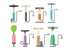 Shiny Air Pump Icon Vectors