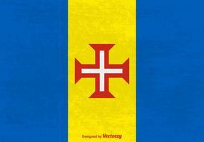 Bandeira do vetor de Grunge Madeira