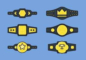 Championship Belt Vector Icon Sets