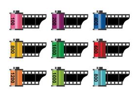 Film Canister Icon Vectors