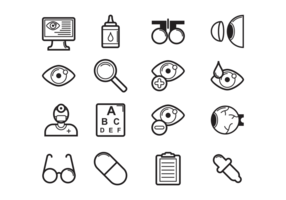 Vector Eye Doctor Icons