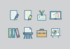 Gratis Office Icons vectoren