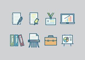 Oficina Iconos gratis Vectores