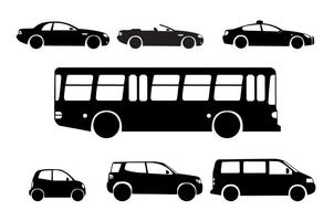Silhouette City Cars  vector