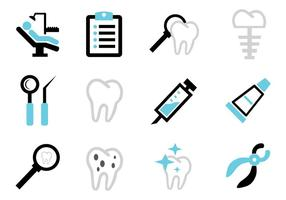 Dental del icono del vector gratuito