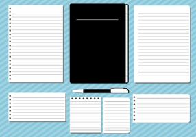 Block Notes Illustration Vector