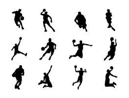 Silhuetten av basket vektorer
