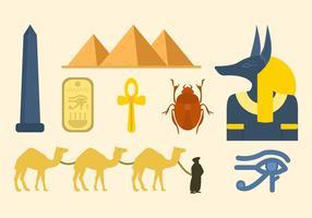 Vectores Egipto planas