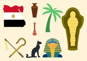 Flat Egypte Vectoren