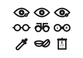 Ojo Doctor Icon Set vector