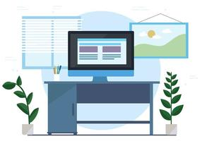 Free Vector Workspace Illustration