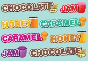 Sweet Titles vector
