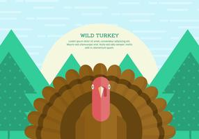 Wild Turkey Background vector