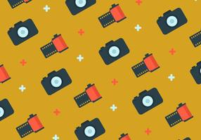 Film Canister and Camera Background vector