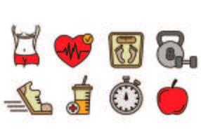 Iconen Van Afslanken en Gezondheid
