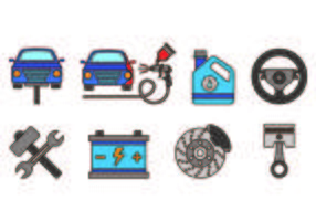 Set Van Auto Body Icons