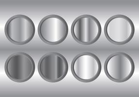 Metal Grey Gradient Icons Vector