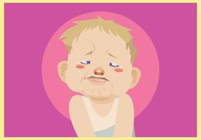 Crying Baby Boy Vector