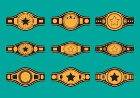 Championship Belt Icon Set