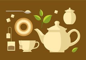 Teekanne Set Klassische Vektor