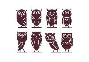 Set of Owl Icon Vectors